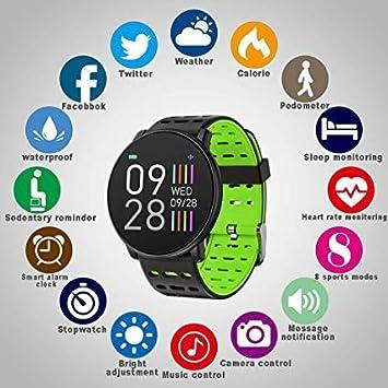 Smartwatch, Reloj Inteligente, Health Bracelet 2019 (Verde ...