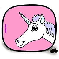 123t ANI-MATES UNICORN DESIGN PLAIN Sun Visor/Sunshade x 2