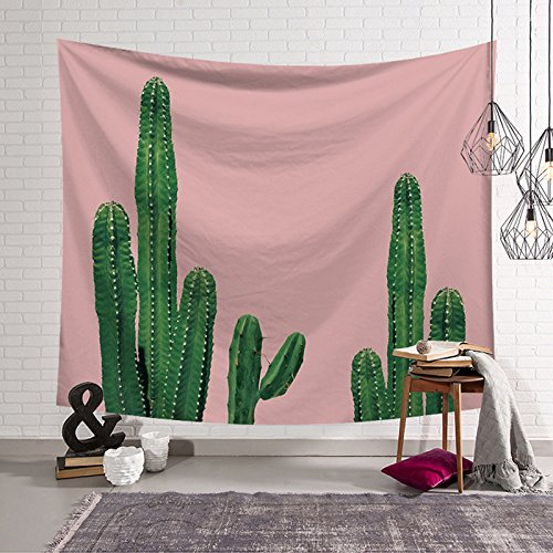 Blanket Series Tapestry (HYSENM Cactus Series Tapestry Plant Floral Wall Hanging Art Tablecloth Home Dorm Décor for Bedroom Living Room, Cactus-04 80x59 Inches)