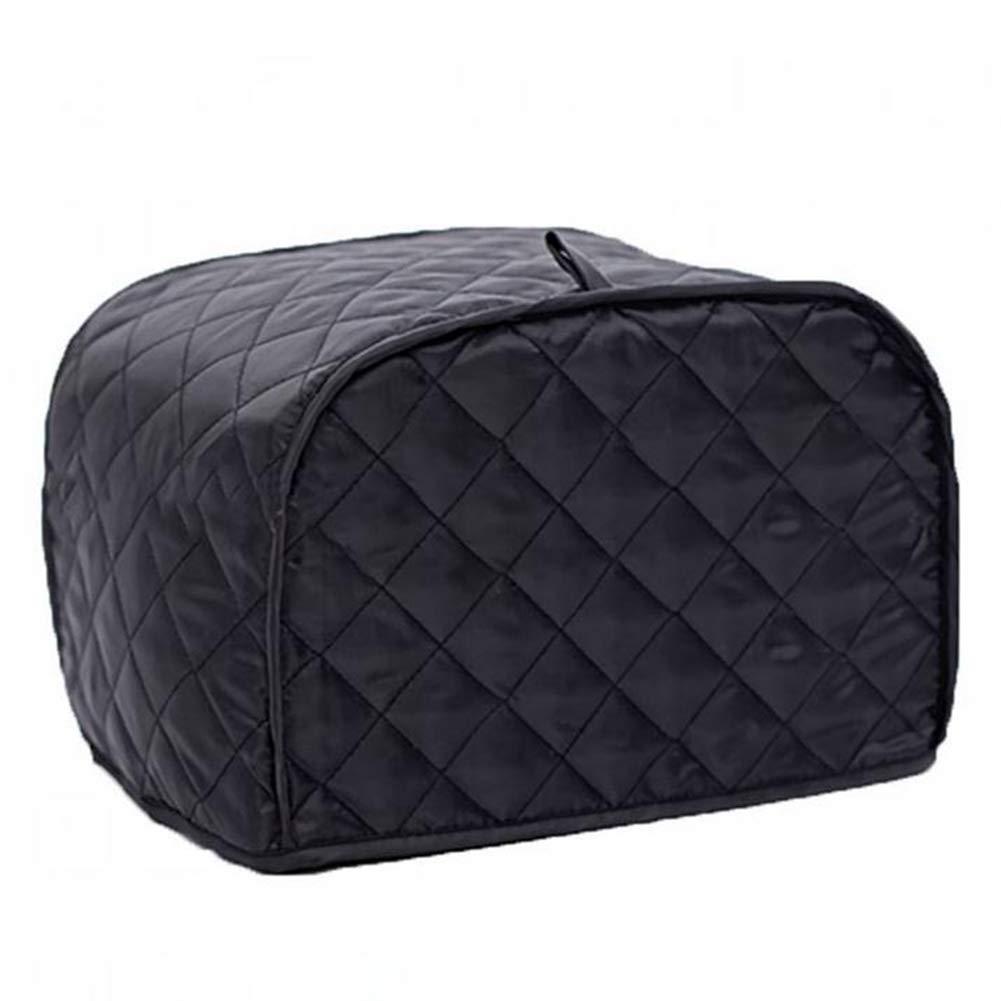 "Toaster Cover 4 Slice Black(12"" x 11"" x 8.5"")- Dust and Fingerprint Protection, Machine Washable (4 Slice 12"" x 11"" x 8.5"", Black)"