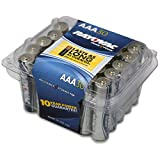 Rayovac Alkaline AAA Batteries, 824-30F, 30-Pack with Recloseable Lid
