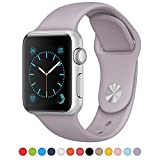 ISTYLE® Apple Watch Band, Soft Silicone Replacement Sport Band TPU iWatch Strap for Apple Watch - 38mm TPU Lavender