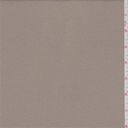 (Khaki Tan Hammered Crepe, Fabric by The Yard)