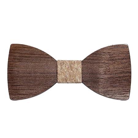 YYB-Tie Corbata Moda Corbata de Esmoquin clásica de Madera para ...