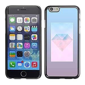 TopCaseStore / la caja del caucho duro de la cubierta de protección de la piel - Gem Day Polygon Art - Apple iPhone 6