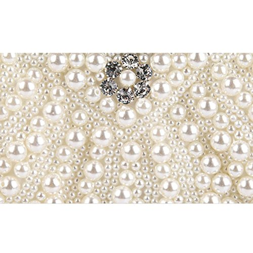 femmes de mariage sac 23 perlé soirée perle main white à bourse strass x d'embrayage 14cm aux sac qFSwq