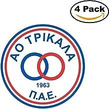 AO Trikala Greece Soccer Football FC Decal Logo 4 Stickers 4X4