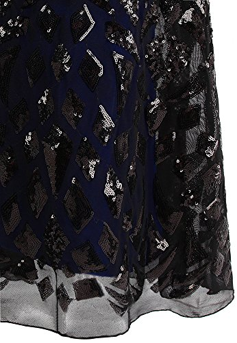 Bola Finos Tirantes fashions Mujer De Negro Camiseta Bateau Lentejuela Vestido Angel Vaina qYOXvww