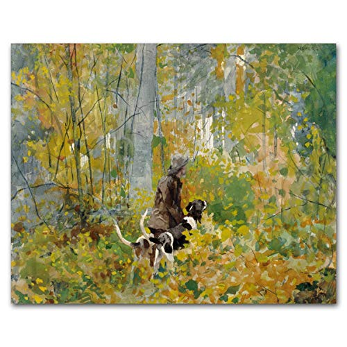 Farmhouse Art (Winslow Homer, Hunting Dog Print, Museum Wall Decor)