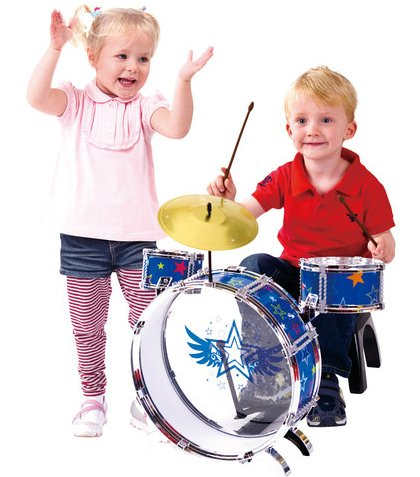 Amazon Com Kidconnection My First Metal Drum Set Musical Instruments