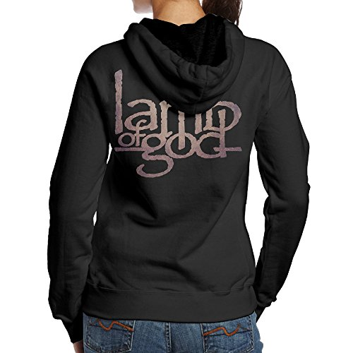 (Kystal Lamb Band God Women's BlackPrint Hoodie Size L Black)
