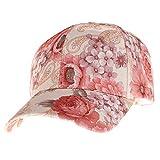 Chirpa Womens Lady Summer Ponytail Baseball Cap Messy Bun Floral Print Hat Sun Caps