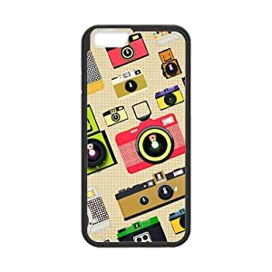 Camera Design Solid Rubber Customized Cover Case for iPhone 6 4.7