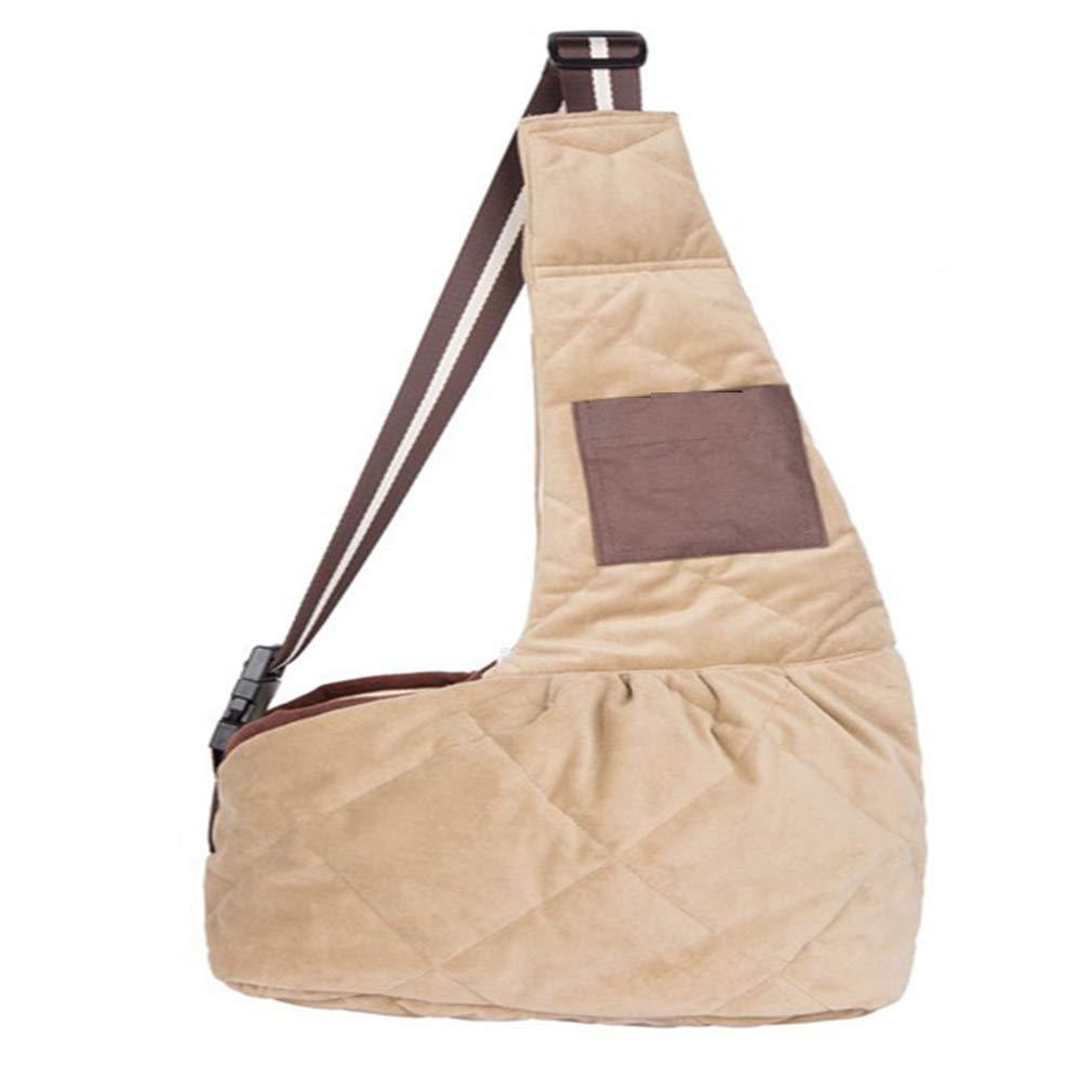 EBRICKON Pet Carrier Sling, Shoulder Bag Adjustable Slide Strap Small & Medium Dogs, Cats Rabbits, Hands-Free Outdoor Pet Carrier, Puppy Carrier Tragvel Bag by EBRICKON (Image #1)