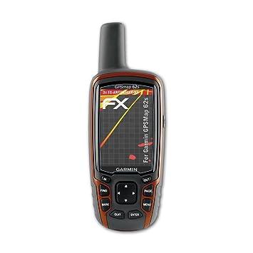 atFoliX 3x Schutzfolie für Garmin GPSMap 64//64s//64st FX-Curved-Antireflex