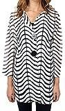 Joseph Ribkoff Black & White Semi-Sheer Zig Zag Striped Jacket Style 171816 - Size 16