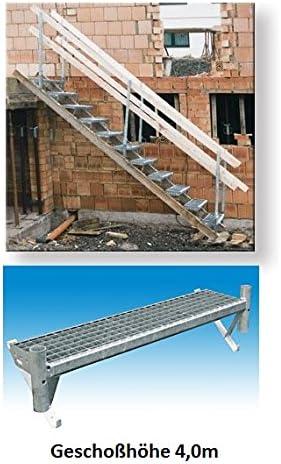 Construcciones escalera Jardín escalera Mobile escalera para taludes Altura de pisos 4,0 m maqueta de escalera: Amazon.es: Bricolaje y herramientas