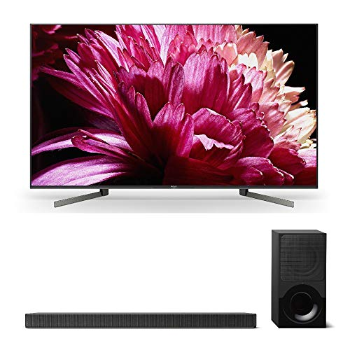 "Sony XBR55X950G 55"" BRAVIA 4K Ultra HD HDR Smart TV (2019 Model) with Sony X9000F 2.1ch Sound bar with Dolby Atmos & Wireless Subwoofer"