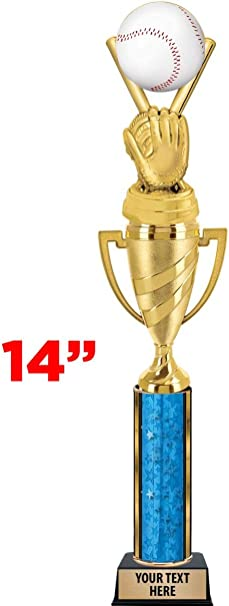 Custom T-Ball Trophies for Kids Baseball Prime Crown Awards Silver T-Ball Trophy