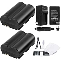 UltraPro Canon BP-511/BP-511a/BP-512 High-Capacity Replacement Batteries with Rapid Travel Charger for Canon Digital Cameras