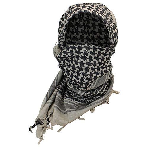 ATHWILL Premium Arabic Scarf 100% Cotton Shemagh Keffiyeh 43'x43' Arab Scarf Grey