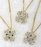 Club Pack of 24 Christmas Jewelry Snowflake Pendant Necklaces 16""