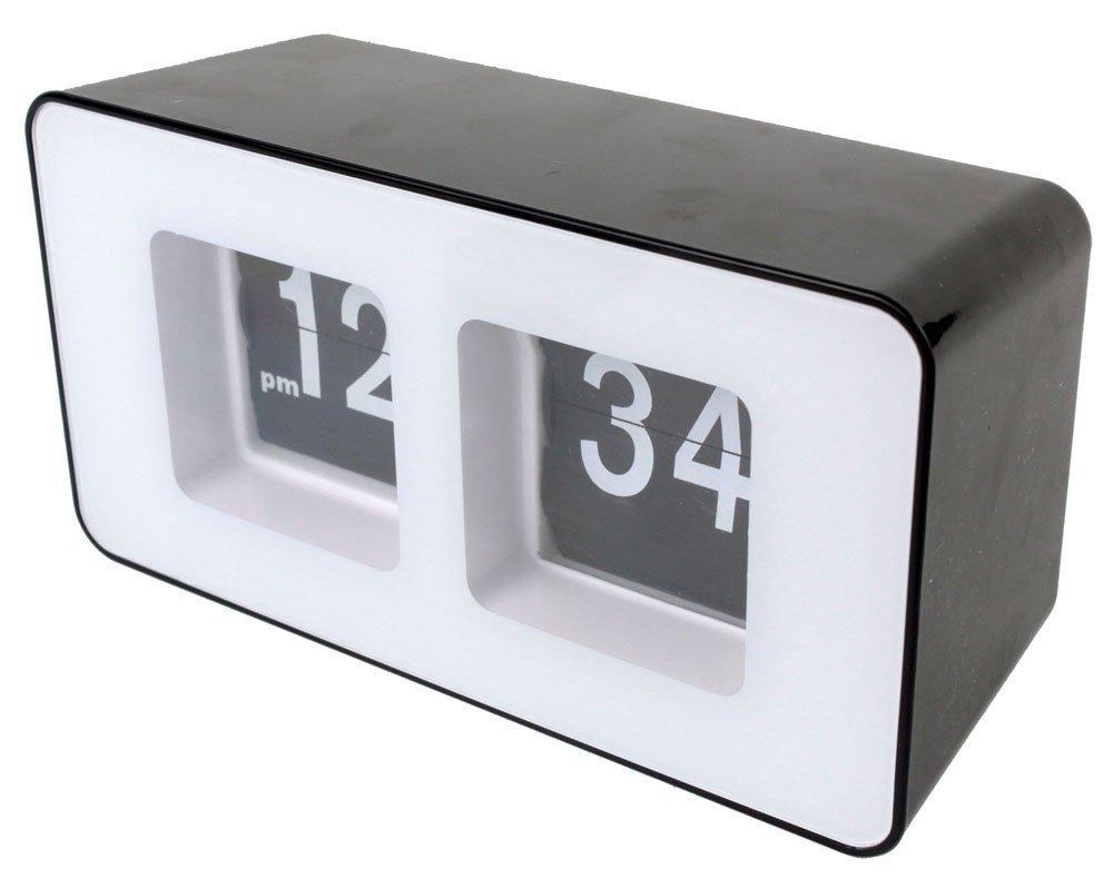Bw retro auto flip clock classic stylish modern desk wall clock bw retro auto flip clock classic stylish modern desk wall clock amazon kitchen home amipublicfo Choice Image