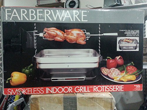 Faberware SMOKELESS INDOOR GRILL/ROTISSERIE/ Model R4400