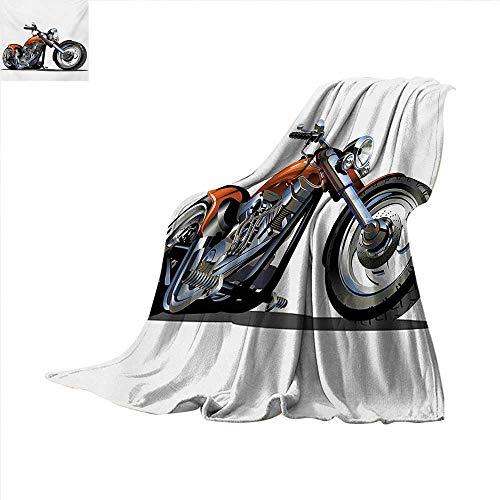 - Motorcycle Throw Blanket Adventure Motorbike Image Motorcyclist Adventure Race Powerful Engine Vehicle Warm Microfiber All Season Blanket for Bed or Couch 50 x 30 inch Orange Black