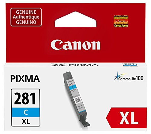 Canon CLI-281XL Cyan Ink Tank, Compatible to TR8520,TR7520,TS9120,TS8120 and TS6120 Printers
