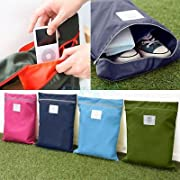 Amazon Lightning Deal 100% claimed: Yong8 2PCS Travel Luggage Waterproof Laundry Shoe Pouch Storage Portable Tote Bag Organizer