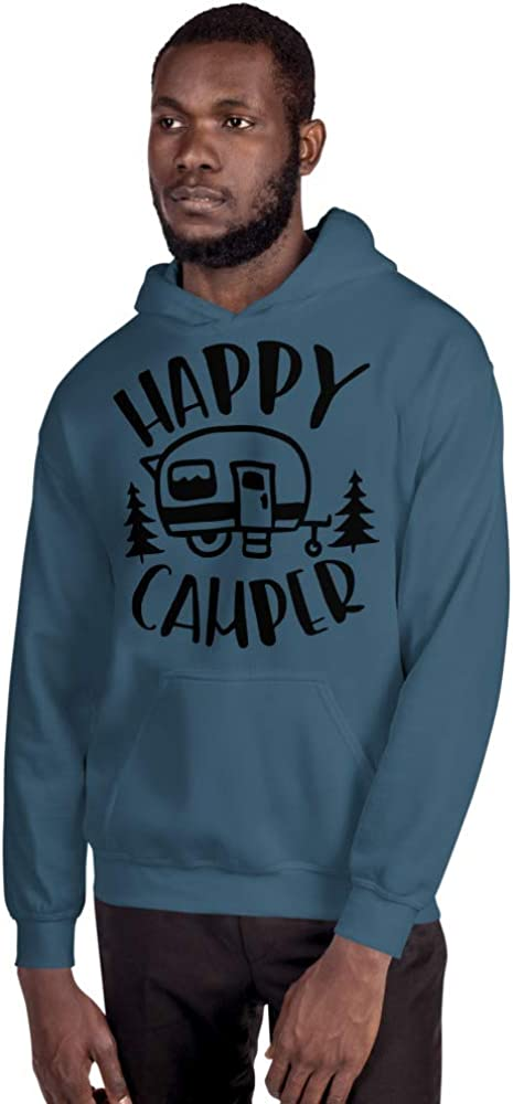 Happy Camper Trailer Fifth Wheel Forest Camping Funny Unisex Hoodie