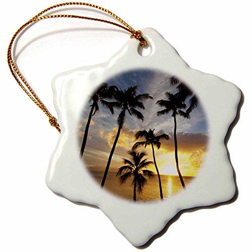 3dRose orn_89776_1 Sunset, Napili Bay, Maui, Hawaii US12 DPB2074 Douglas Peebles Snowflake Porcelain Ornament, 3-Inch by 3dRose