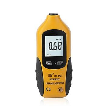 Lorenlli Ajuste HT-M2 Pantalla LCD digital profesional Detector de fugas de microondas Probador de medidor de radiación de alta precisión 0-9.99mW / cm2: ...