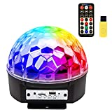 Disco Ball Party Lights, ihoven 9 Colors Rotating LED Disco Stage DJ Lights Crystal Magic Light Projector Sound Activated for KTV Xmas Wedding Club Karaoke Lighting Show with Remote Control