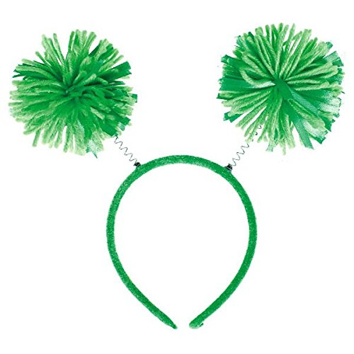 - Amscan Pom Pom Headbopper, Party Accessory, Green