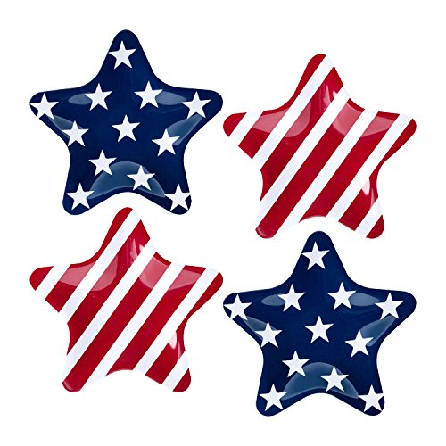 Gourmet Art 4-Piece Patriotic Star Melamine 8