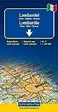 Lombardie (avec plans de Côme, Milan, Brescia) - Carte régionale Italie (échelle : 1/200 000)