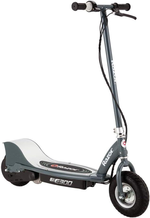 Razor-E300 Scooter eléctrico, Color Gris Mate, l (Razer RZ-E300-MG)