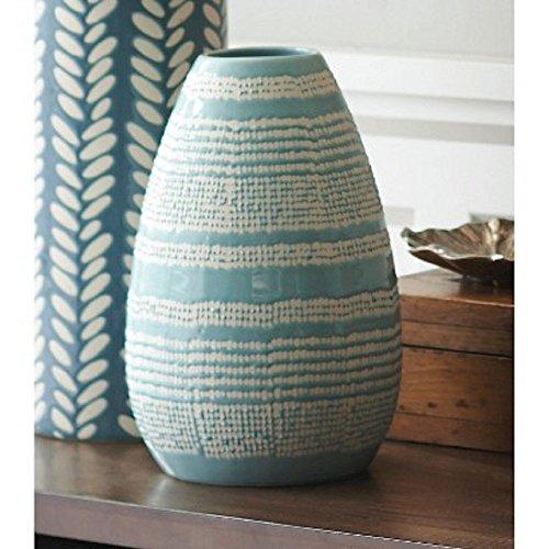 Stripe Vases (Threshold Ceramic Horizontal Stripe Vase - Teal)