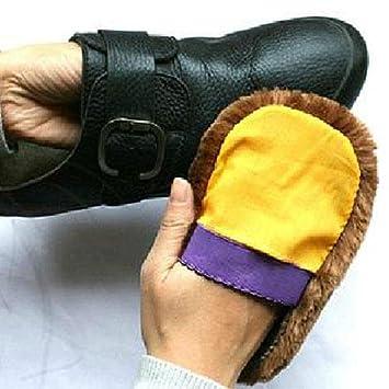 Zhuotop Soft Wolle Polieren Schuhe Reinigen Reinigung Handschuhe