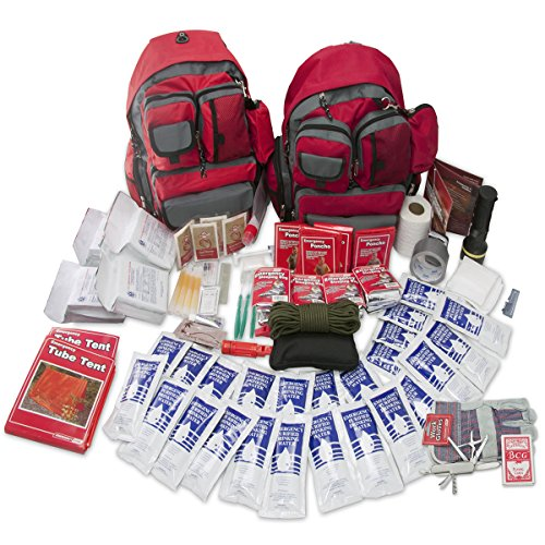 (Emergency Zone 4 Person Family Prep 72 Hour Survival Kit/Go-Bag | Perfect Way to Prepare Your Family | Be Ready for Disasters Like Hurricanes, Earthquake, Wildfire, Floods | Now Includes Bonus Item!)