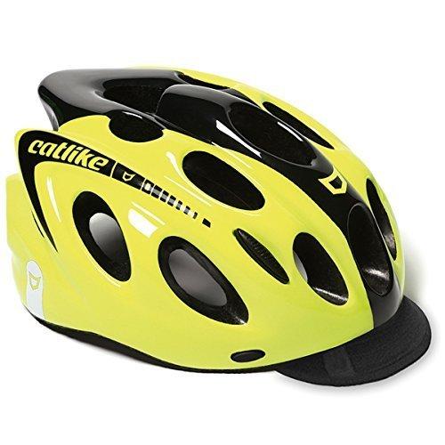 Catlike Kompact 'o Urban Fluo CV casco de bicicleta, Amarillo/Negro, Grande