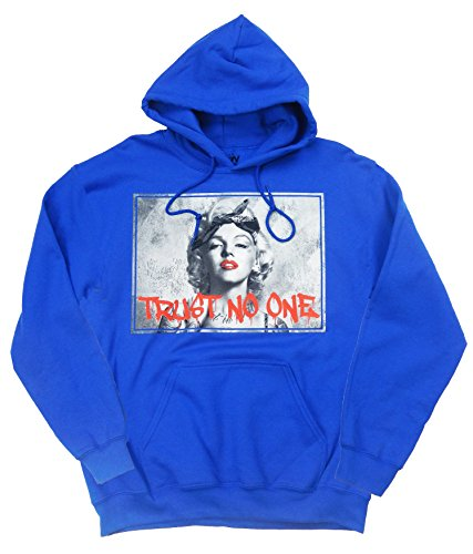 Popular Poison Marilyn Graffiti Blue Hoodie, Large