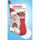 Design Works Santa With Cats Stocking Counted Cross-Stitch Kit