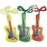 Guitar-Shaped Bubble Necklace Party Favors, 4ct