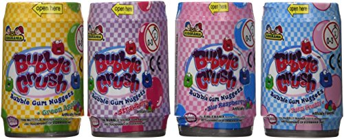 Rabbit Assorted Jelly Beans - Bubble Mania Bubble Crush Bubble Gum Nuggets Assorted Fruit Flavors 1.98oz each (Pack of 12)