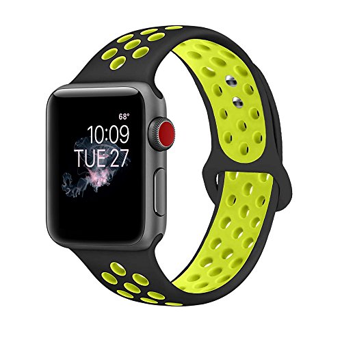 ENANYN Sport Loop Band 38mm 40mm 42mm 44mm Soft Silicone Sport Wrist Strap Replacement Bracelet Wristbands for Watch Series 4,3,2,1,of Size S/M,M/L