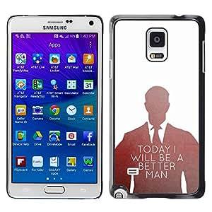 YOYOYO Smartphone Protección Defender Duro Negro Funda Imagen Diseño Carcasa Tapa Case Skin Cover Para Samsung Galaxy Note 4 SM-N910F SM-N910K SM-N910C SM-N910W8 SM-N910U SM-N910 - hoy hombre mejor juego de la oficina inspirador