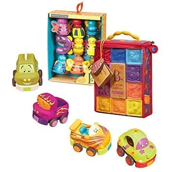B. One Two Squeeze Blocks - Bloques de apriete con tacos y vehículos Wheee-Is: Amazon.es: Bebé